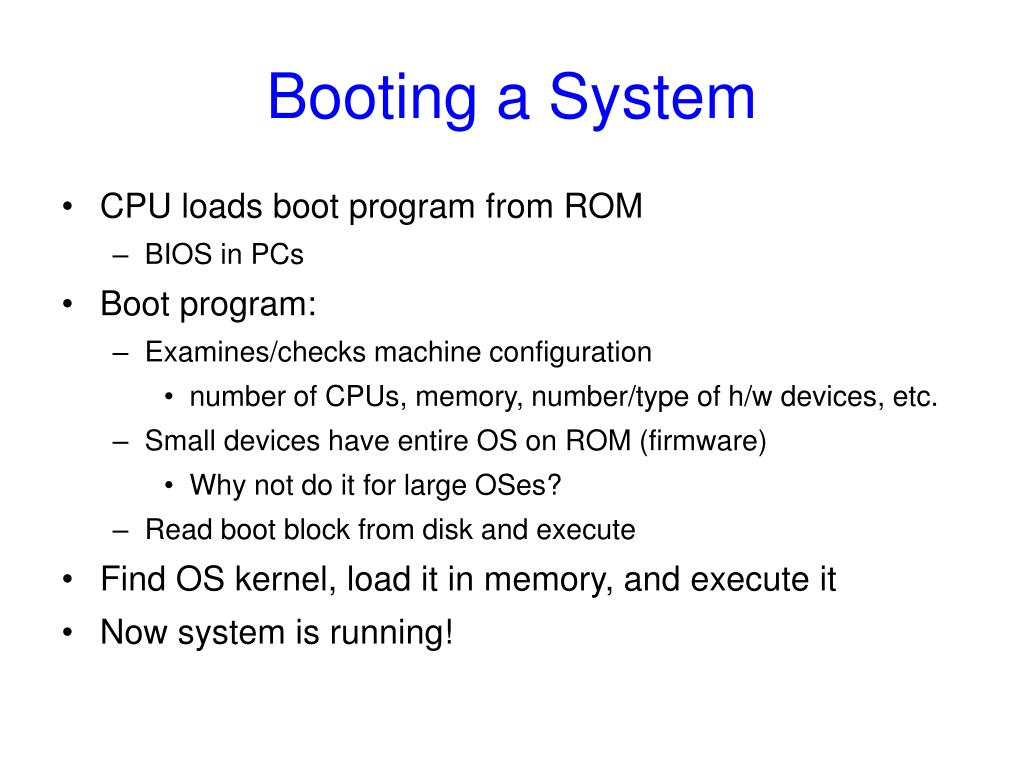 Booting a System