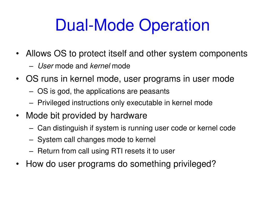 Dual-Mode Operation