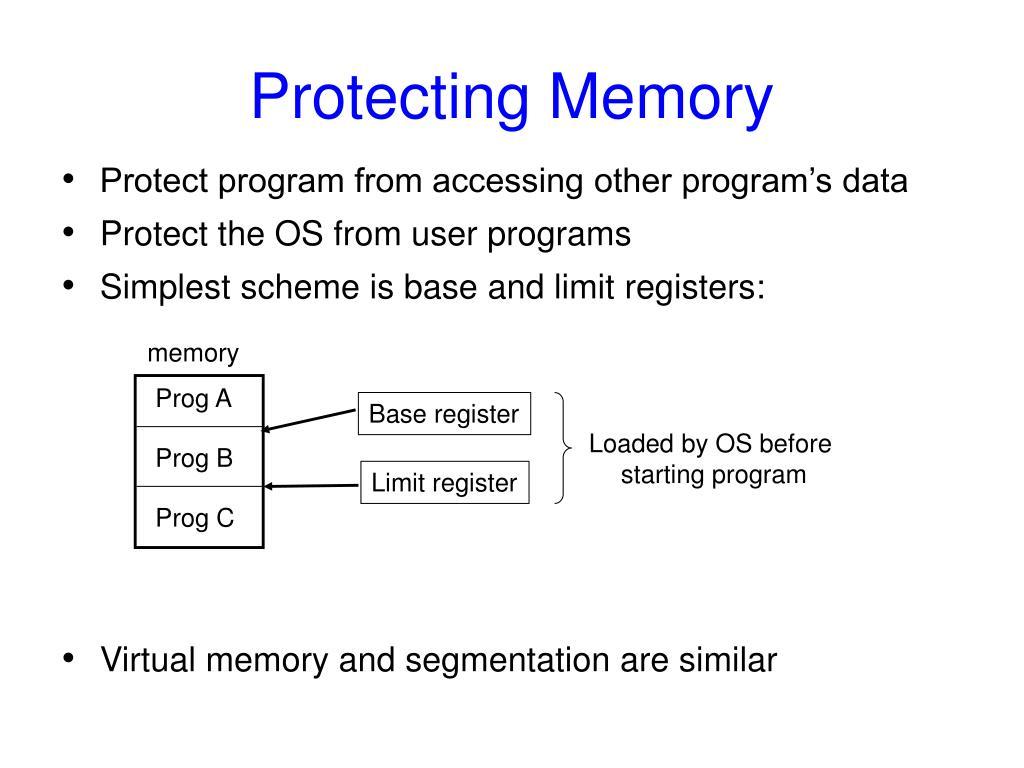 Protecting Memory