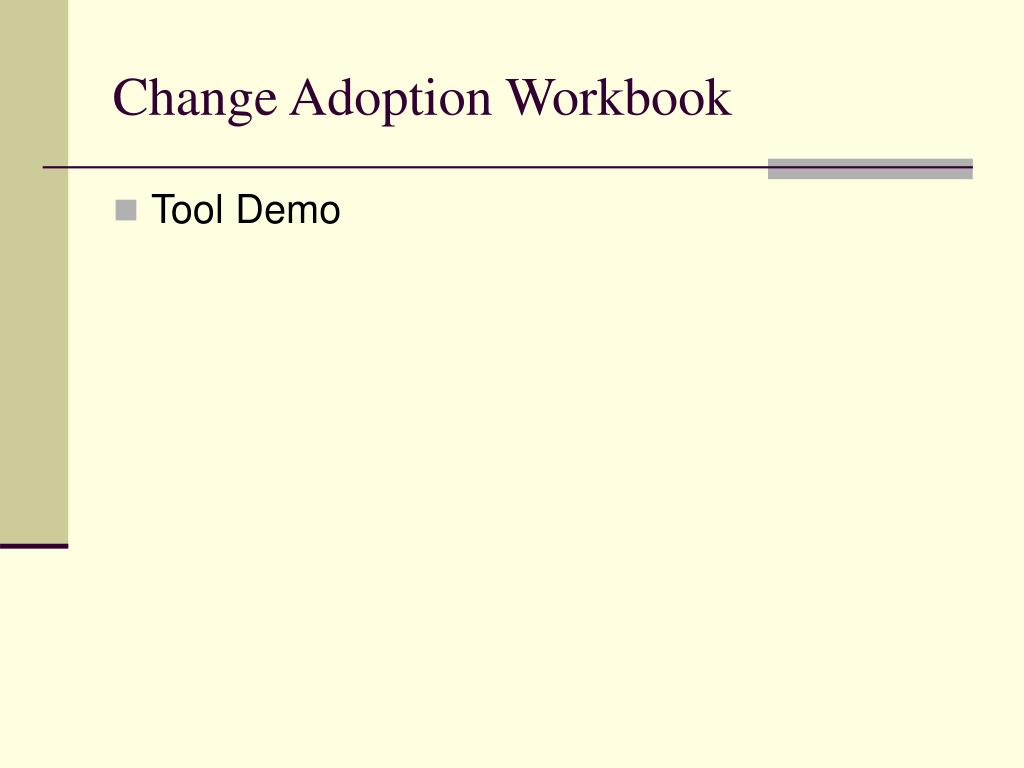 Change Adoption Workbook