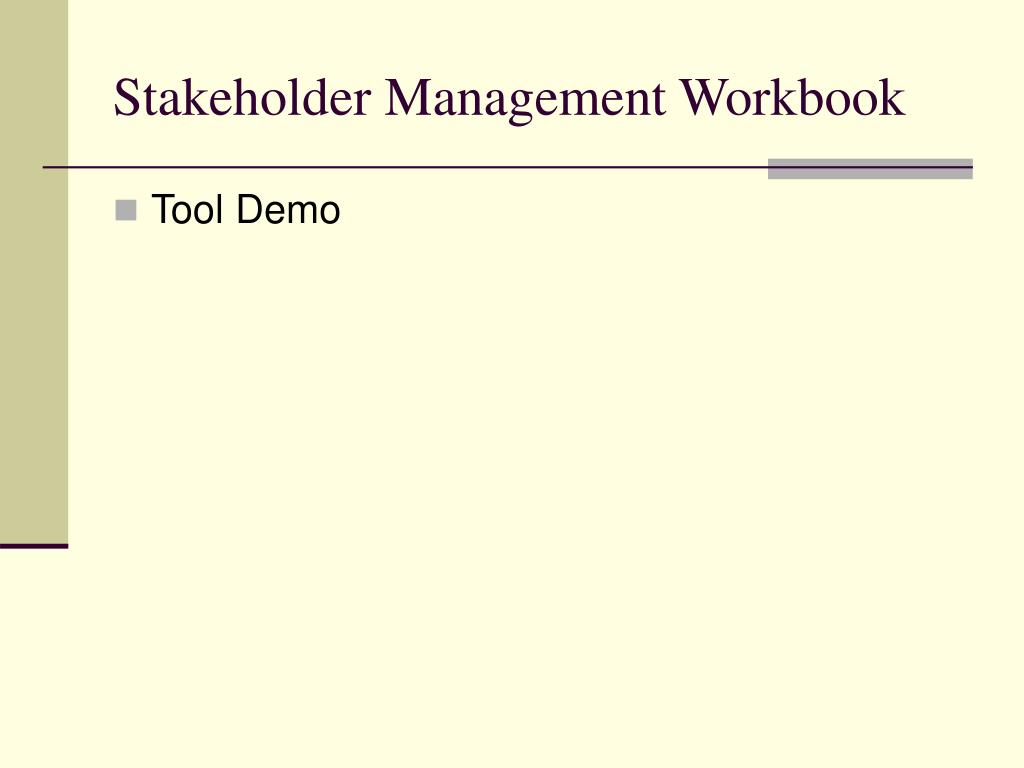 Stakeholder Management Workbook
