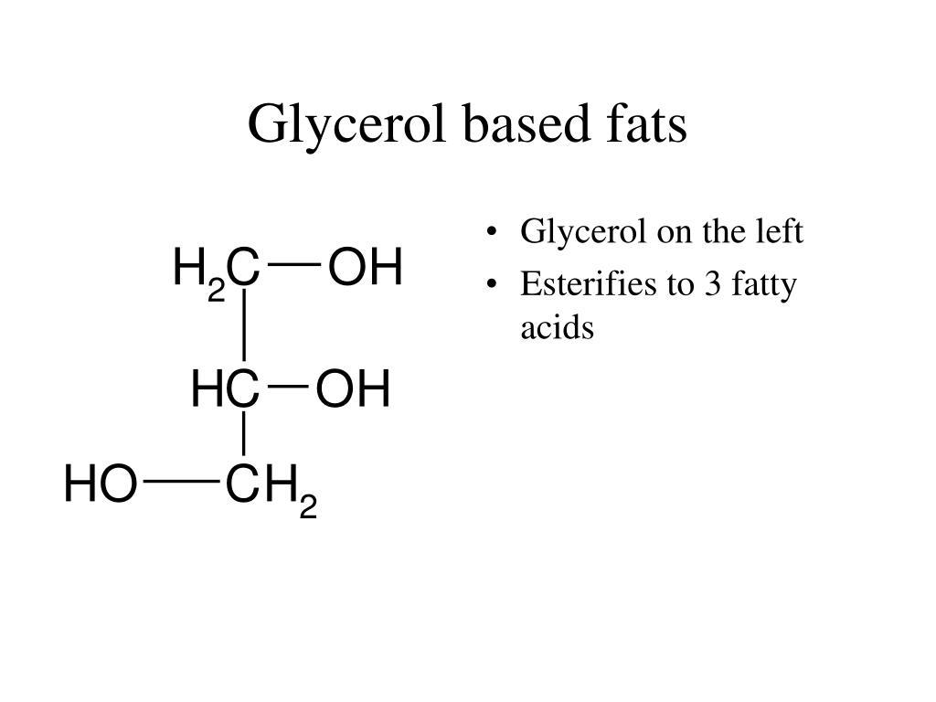 Glycerol based fats