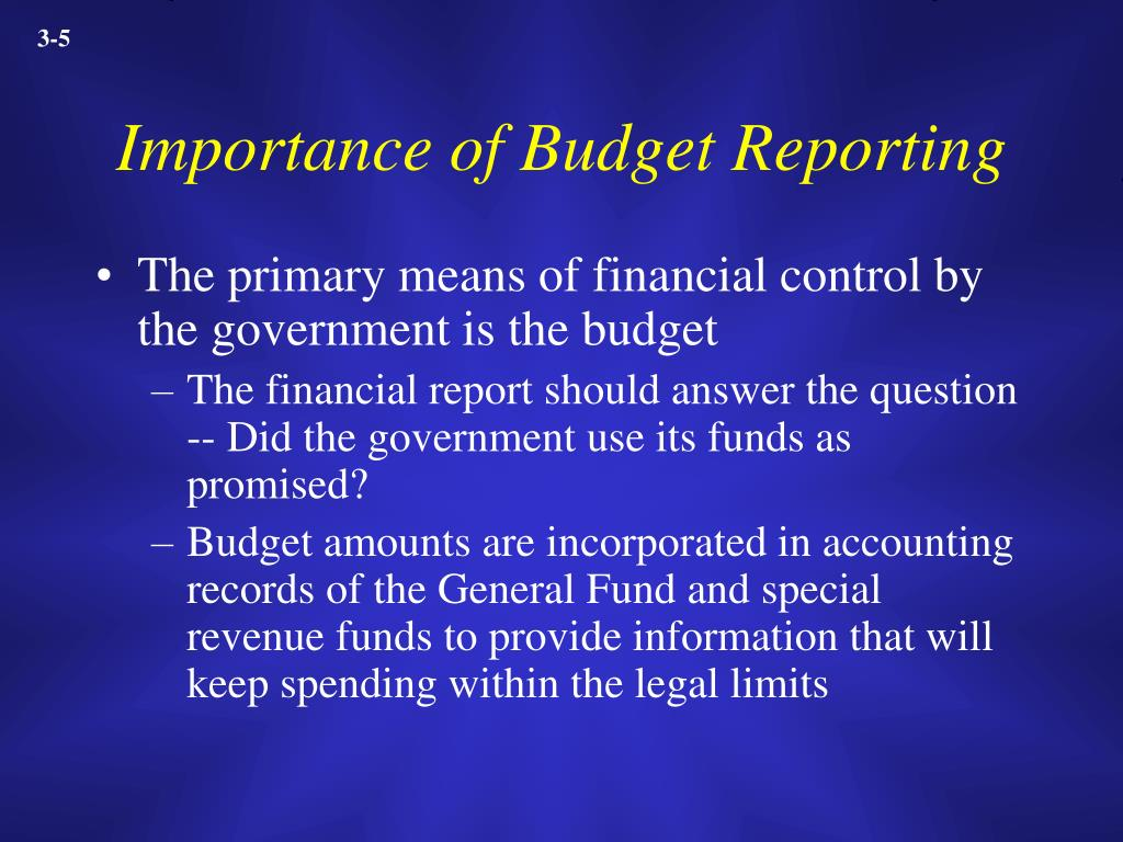 Importance of Budget Reporting