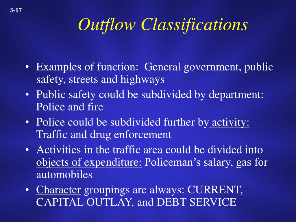 Outflow Classifications