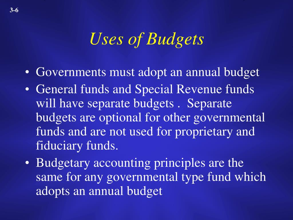 Uses of Budgets