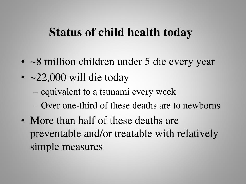 Status of child health today
