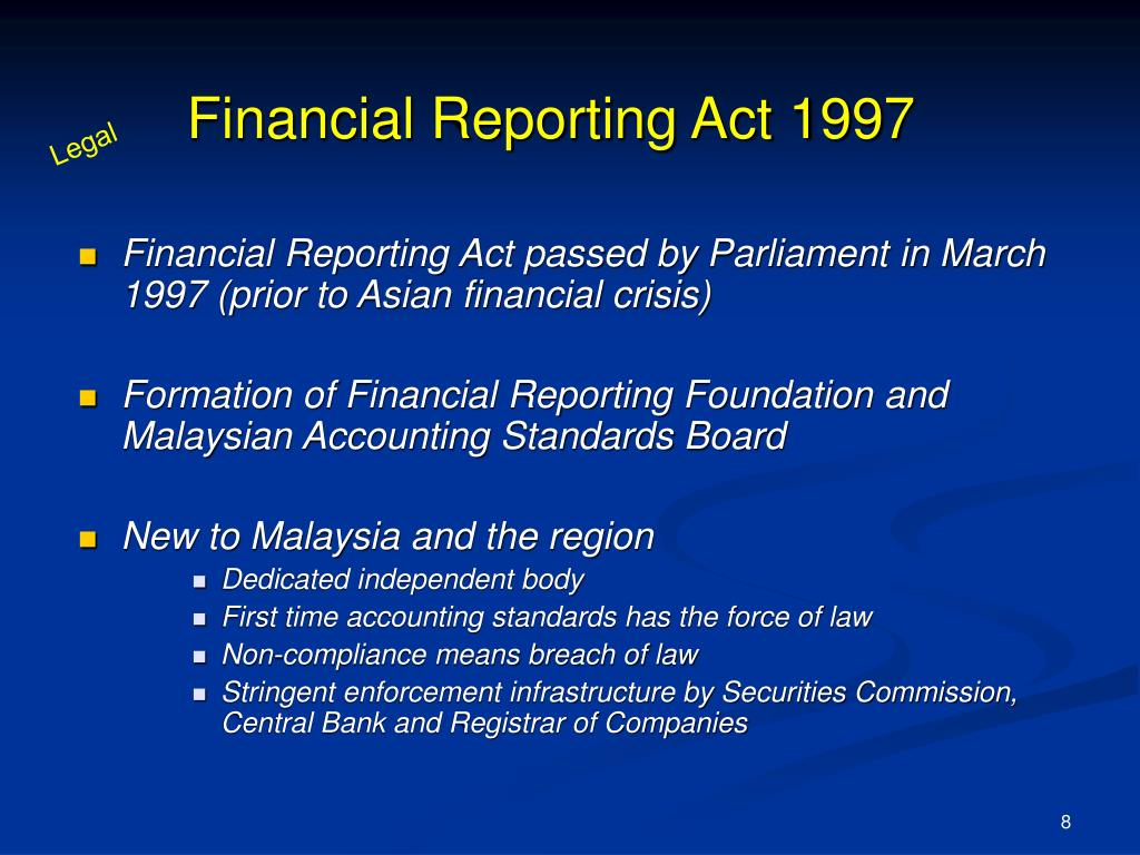 Financial Reporting Act 1997