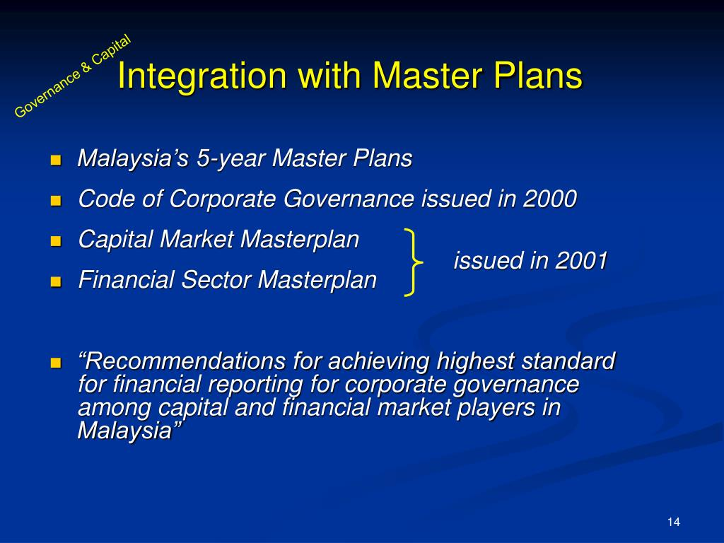 Integration with Master Plans
