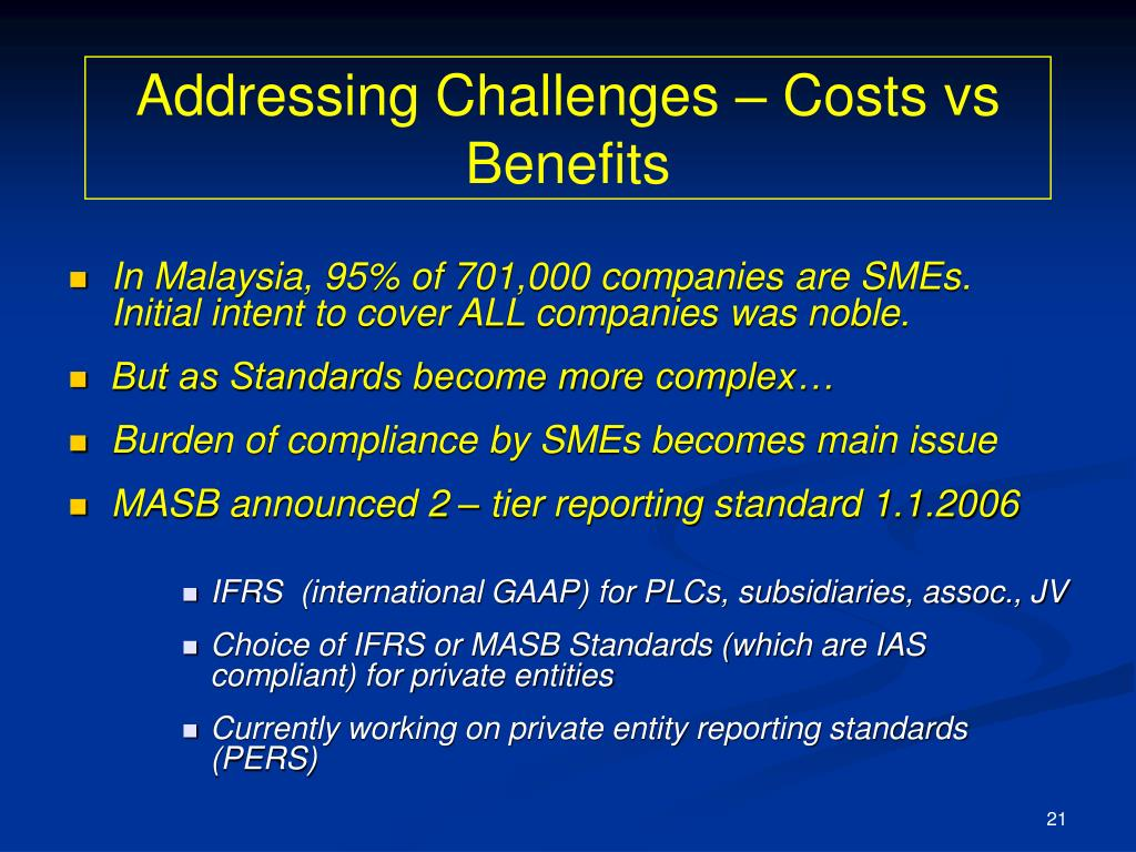 Addressing Challenges – Costs vs Benefits