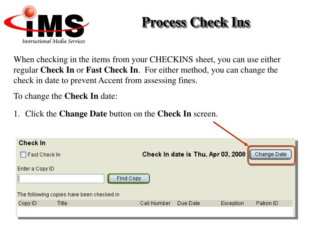 Process Check Ins