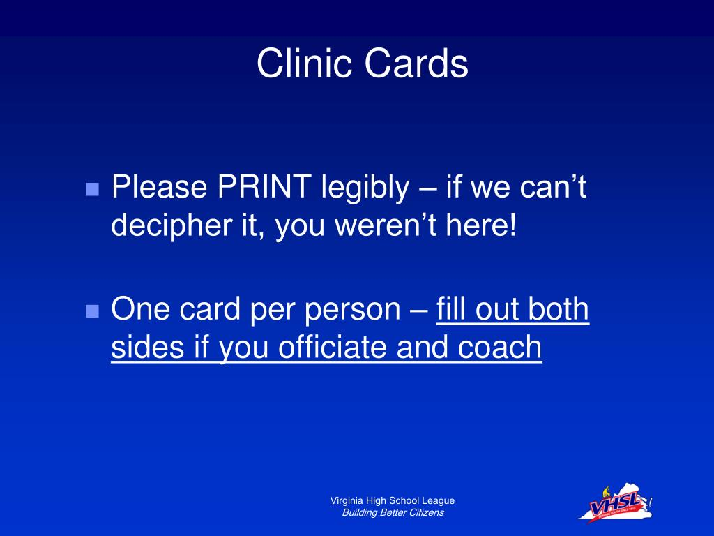 Clinic Cards