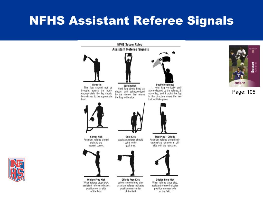 NFHS Assistant Referee Signals