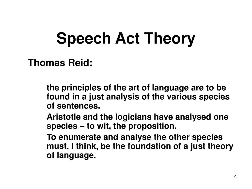 speech act theory Speech actsand events speech acts(austin, 1962) speech act theory ali soomro speech act theory in semantics aseel k mahmood english.
