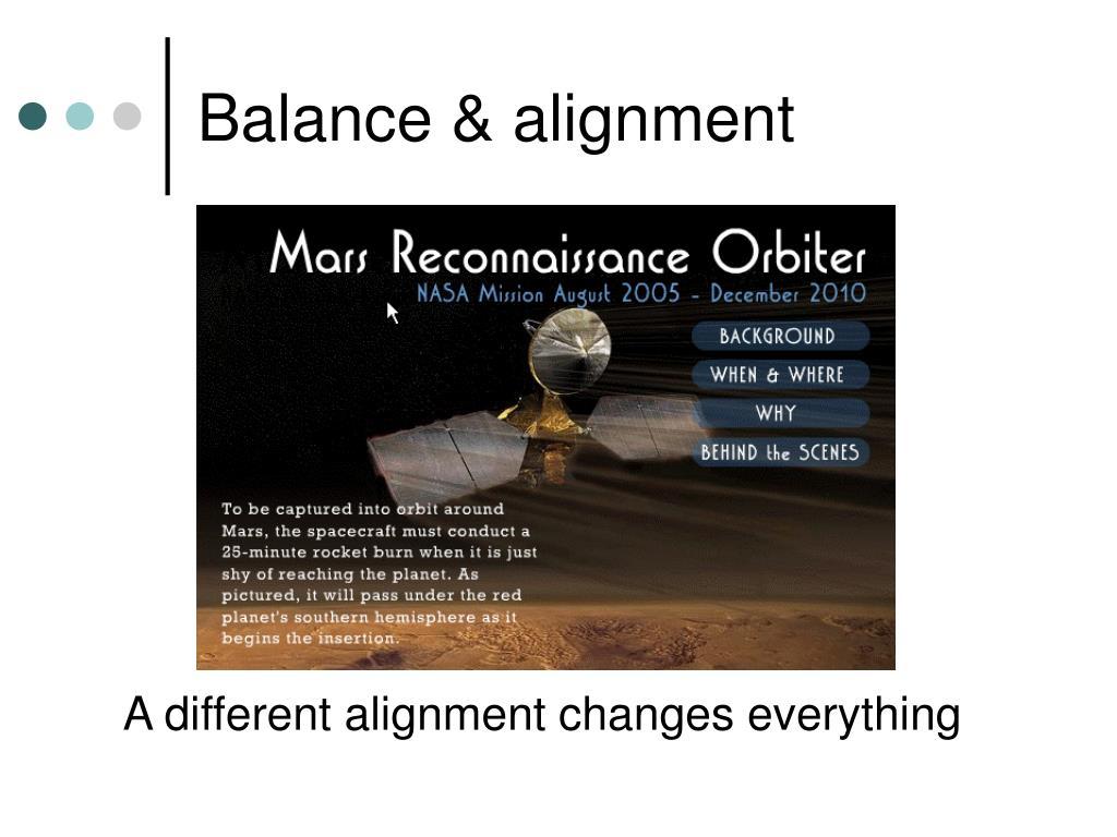 Balance & alignment