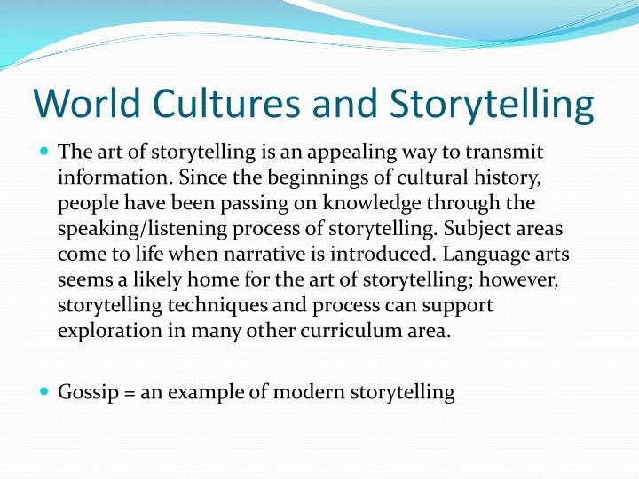 World cultures and storytelling