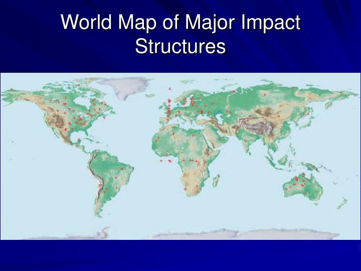 World Map of Major Impact Structures