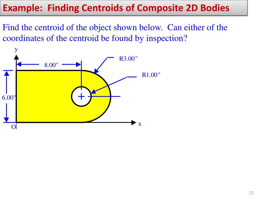 Example:  Finding Centroids of Composite 2D Bodies