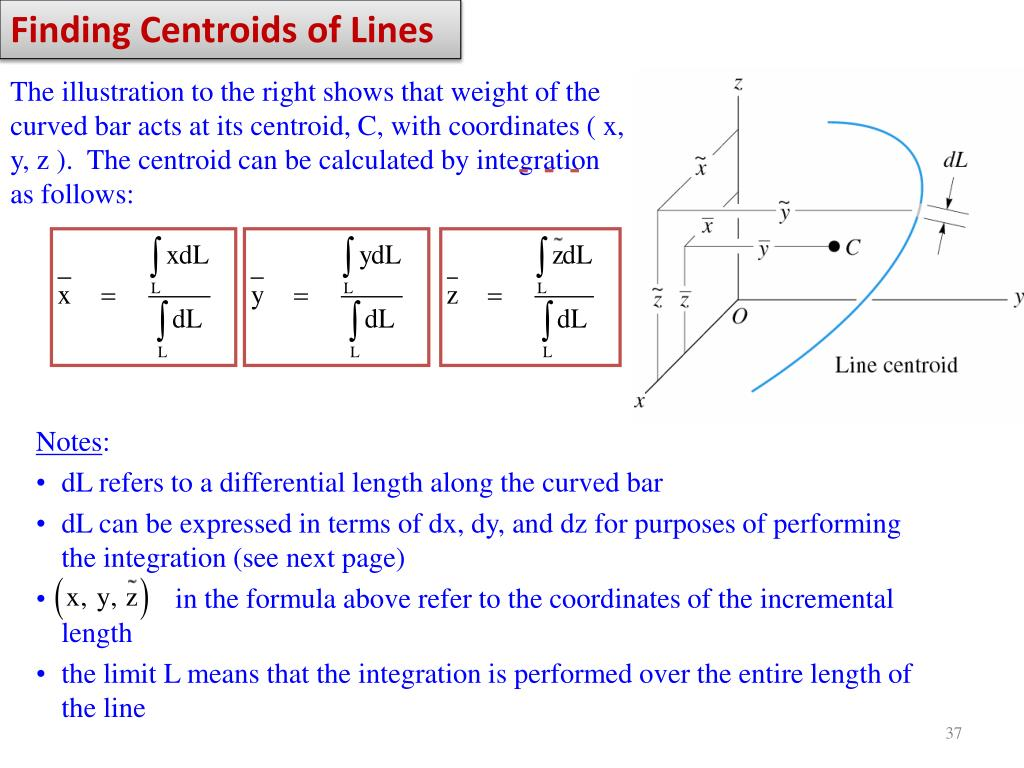 Finding Centroids of Lines