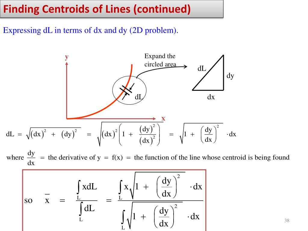 Finding Centroids of Lines (continued)