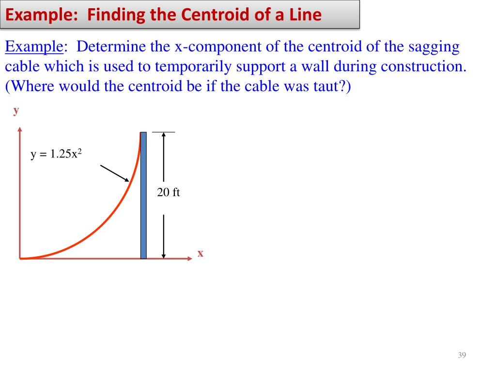 Example:  Finding the Centroid of a Line
