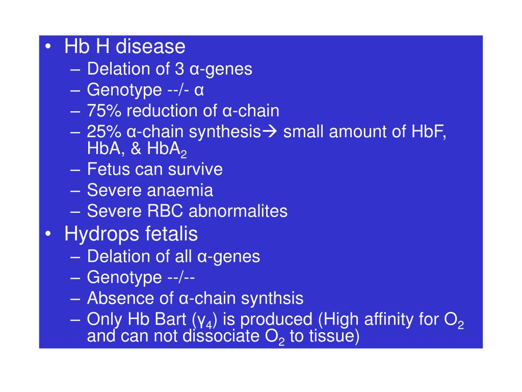 Hb H disease