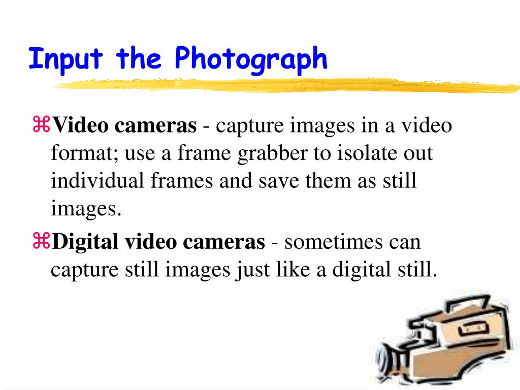 Input the Photograph