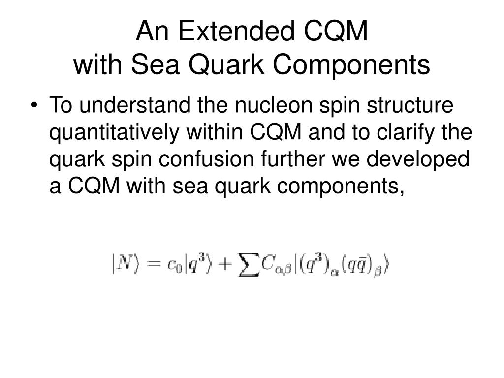 An Extended CQM