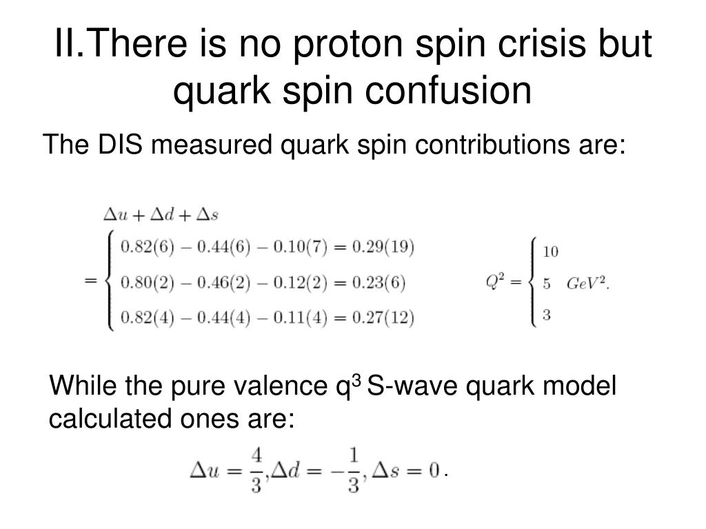 II.There is no proton spin crisis but quark spin confusion