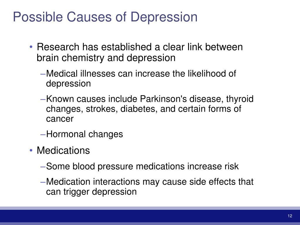 Possible Causes of Depression