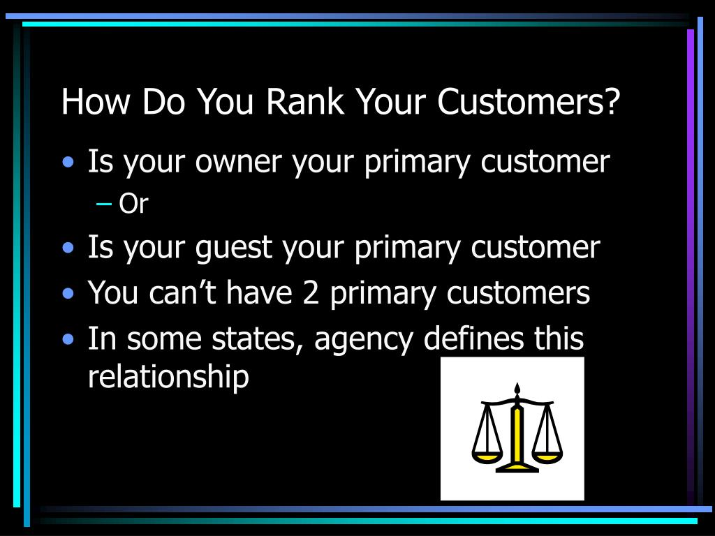How Do You Rank Your Customers?