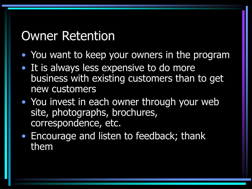 Owner Retention