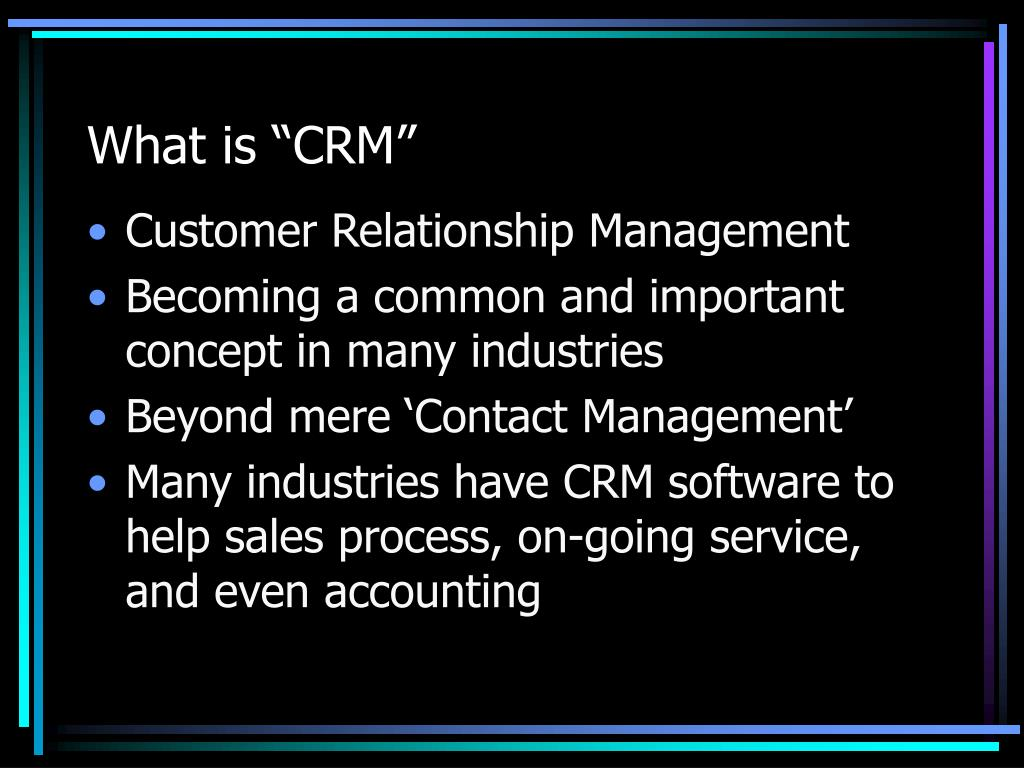 "What is ""CRM"""