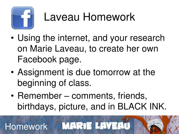 Laveau Homework