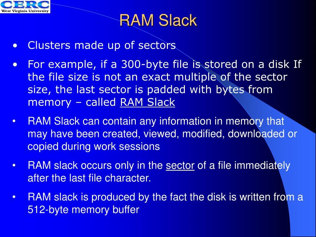 RAM Slack