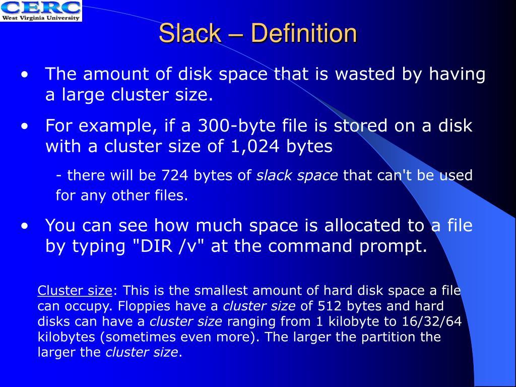Slack – Definition