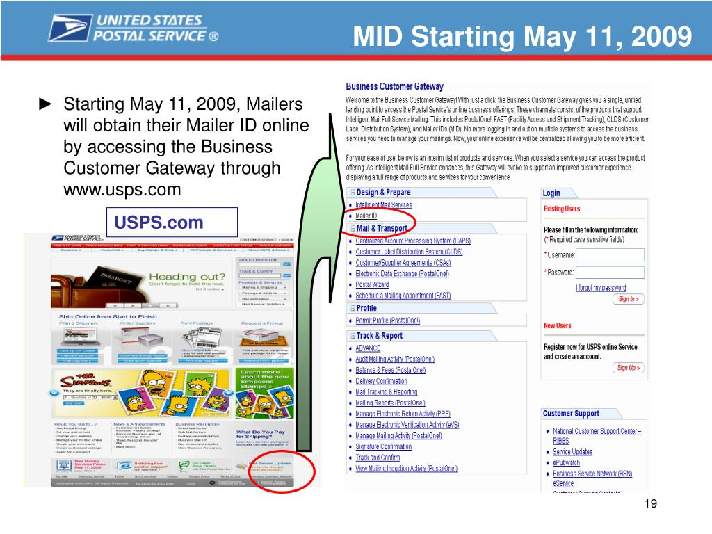 MID Starting May 11, 2009