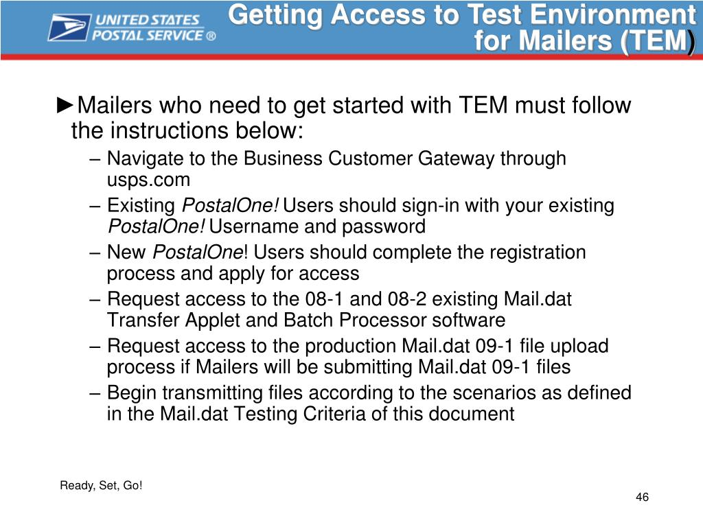 Getting Access to Test Environment