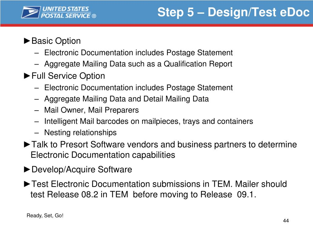 Step 5 – Design/Test eDoc