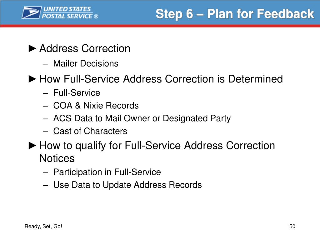 Step 6 – Plan for Feedback
