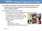 talking with mail service providers