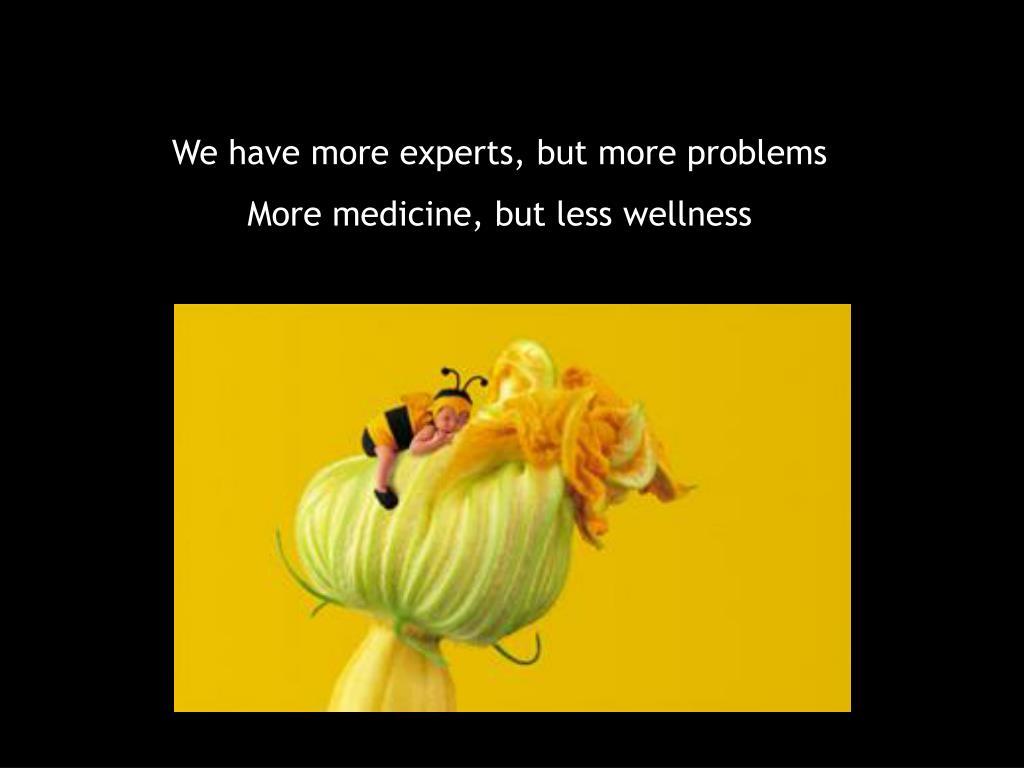 We have more experts, but more problems