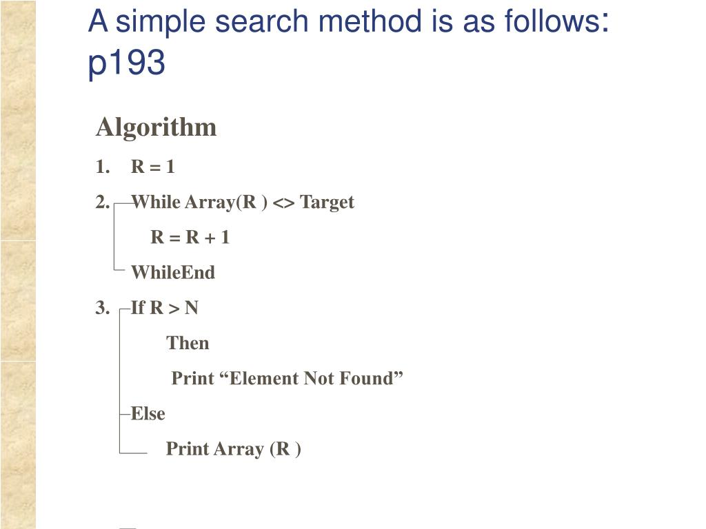 A simple search method is as follows
