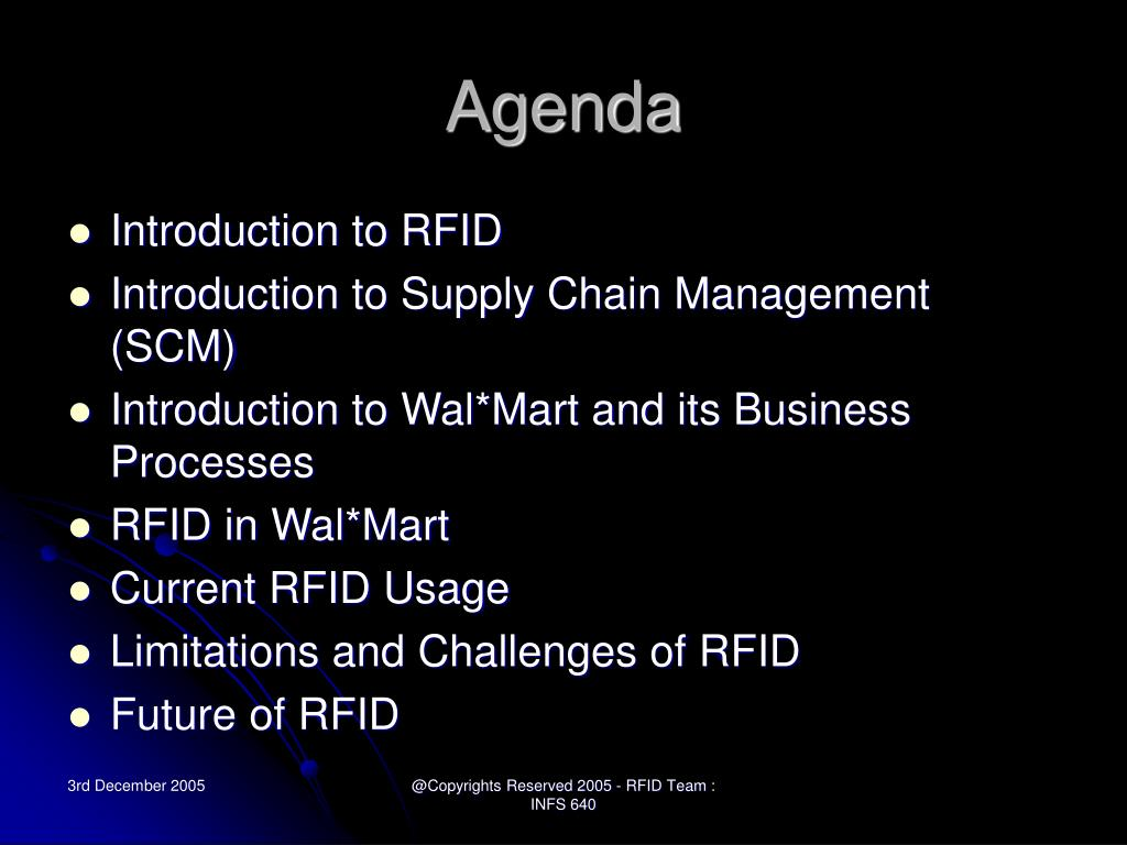 Rfid in supply chain management case study