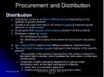 procurement and distribution23