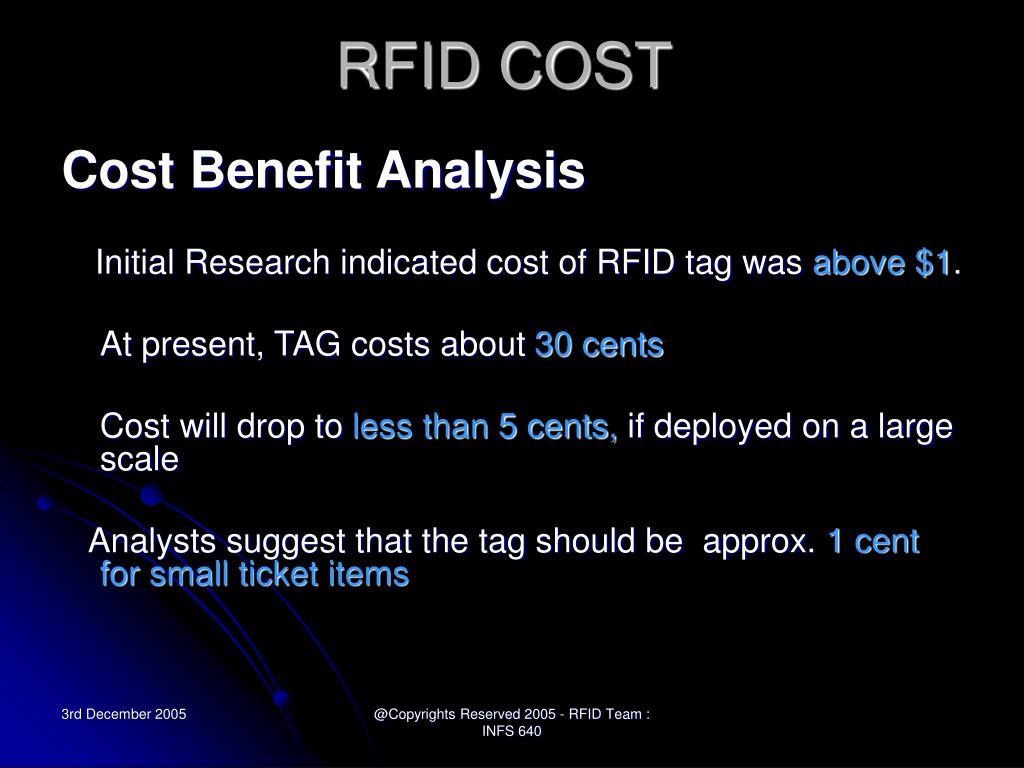 RFID COST