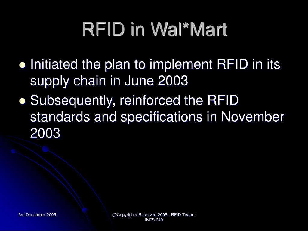 RFID in Wal*Mart