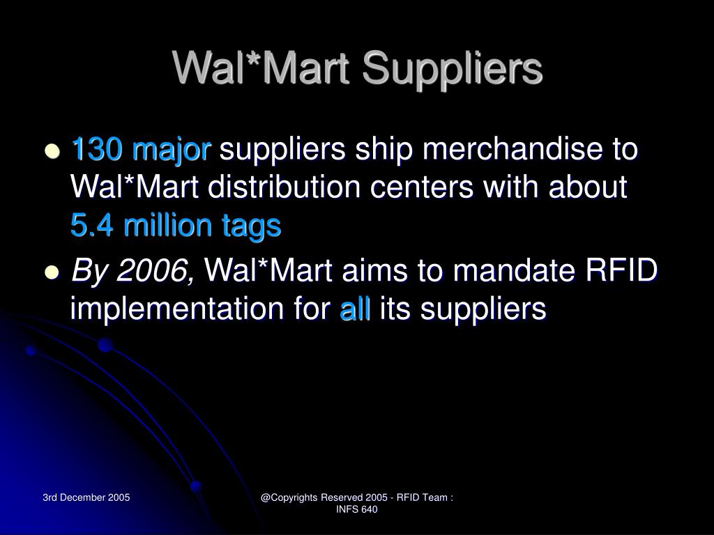 Wal*Mart Suppliers
