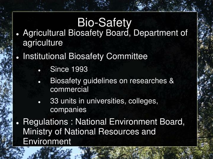 Bio-Safety