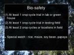bio safety1