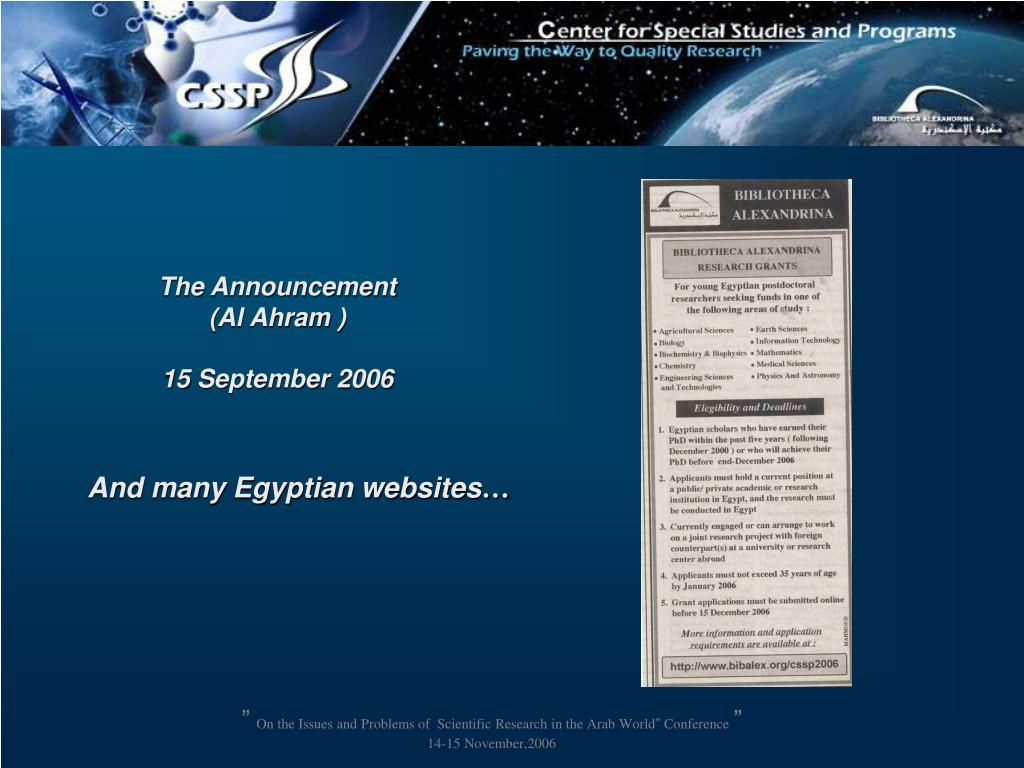 And many Egyptian websites
